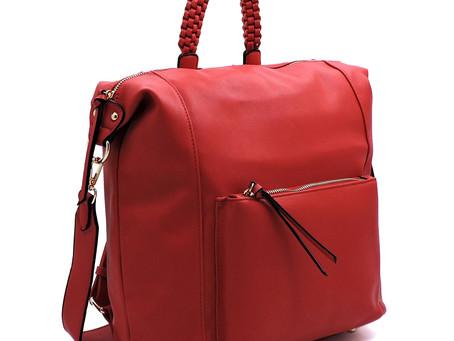 Check out this beautiful red convertible handbag!