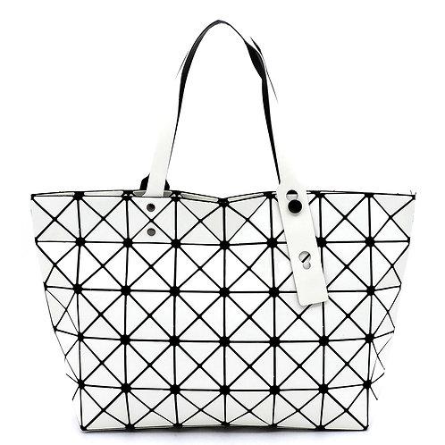 Geometric Checkered Shopper