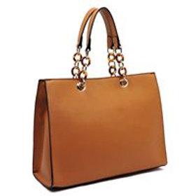Amber Chain Top Handle Box Satche