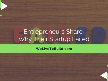 """Entrepreneurs share why their businesses fail..."" by Sean Weisbrot"