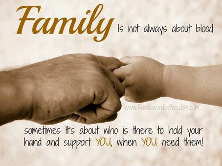 If we trust in a universe that has a higher purpose, then family members are in our lives for a good