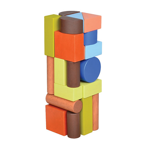 Unit Blocks Tower Colorful