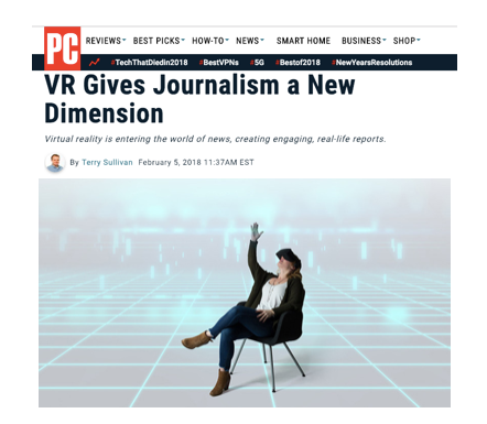 VR Journalism: PCMag