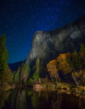 Yosimite Nanional Park, El Capiton, Light painting