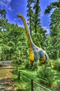 Fenced in Brontosaurus