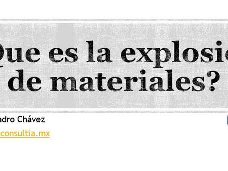 Explosión de materiales