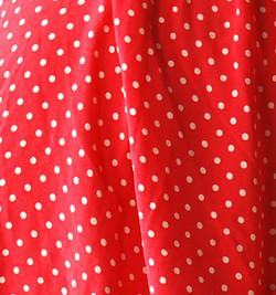 Red Polka Dot Fabric