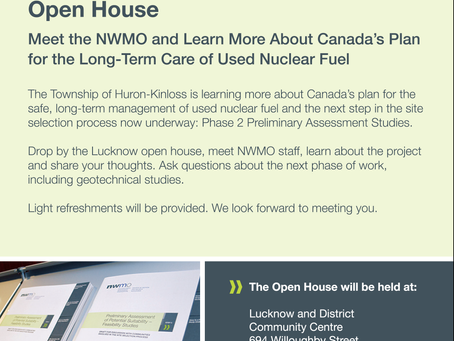 NWMO Open House - March 30 and 31 - Lucknow