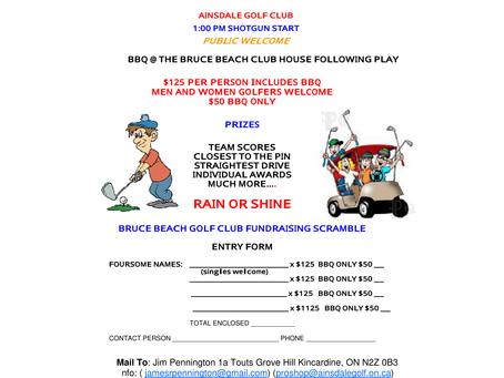 BB Golf Tournament - July 12 - Ainsdale GC