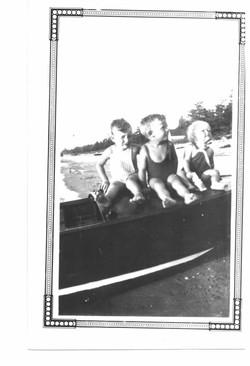 Dick Huff, Harold Clark, Jean Clark 1933-34 question mark.jpg