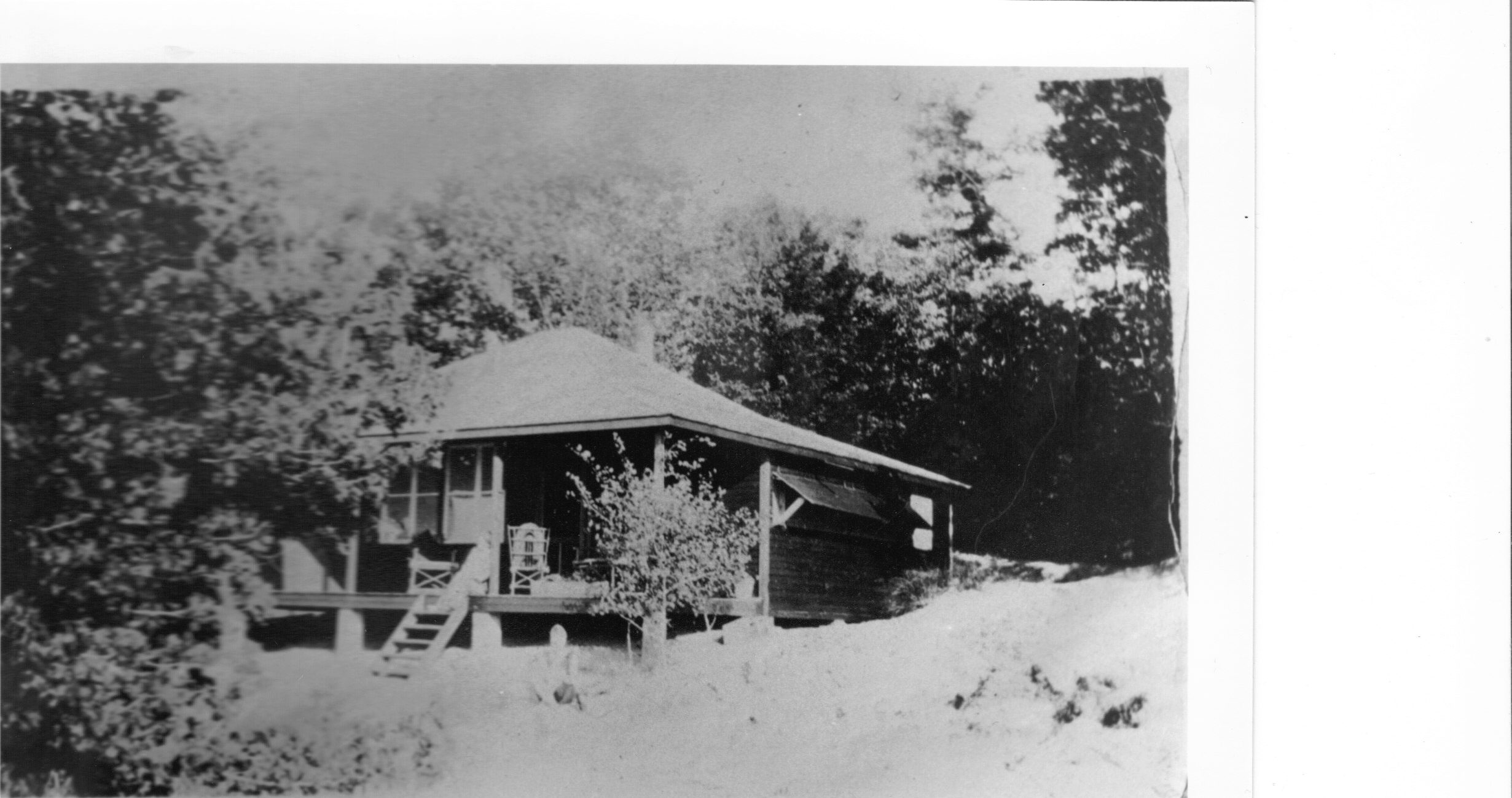 Cottage No 1 Bruce Beach Taken about 1923-24 Built by Agnes Morrison nee Hamilto