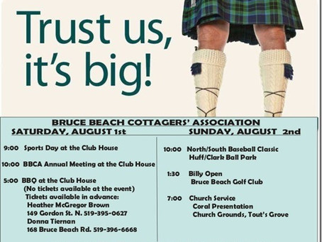 Really Big Bruce Beach Weekend Coming August 1