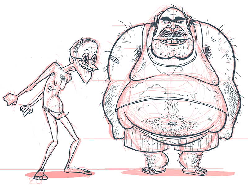 Used Mattress Discounters character design concept art