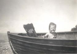 Barbara Ross in Norman MacEachern's boat c1944.jpg