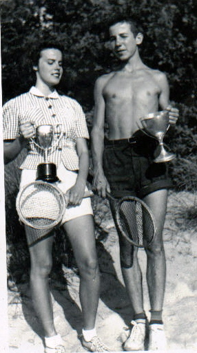 Mary Mckenzie and Doug Mckenzie with trophies in 1940jpg.jpg
