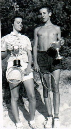 Mary Mckenzie and Doug Mckenzie with trophies in 1940jpg.jpg