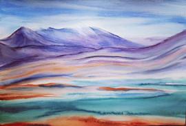Landscape between lines