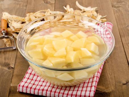 DICA: Para pratos de batata que são crocantes por fora e macios por dentro.