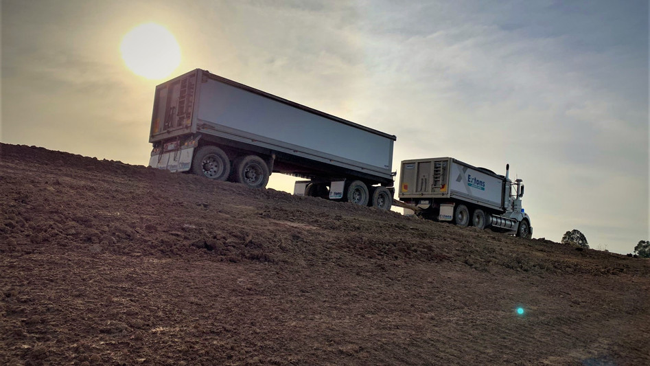 Extons Tranport, Truck and Dog Cartage, Clay Cartage