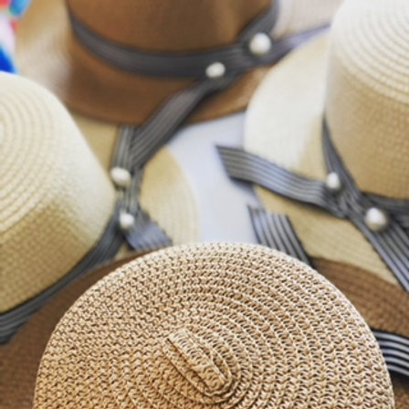 Boater Hat with Pearl detail