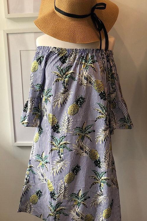 Tropical off the shoulder dress
