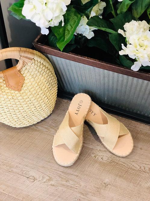 Natural Slide on Shoes