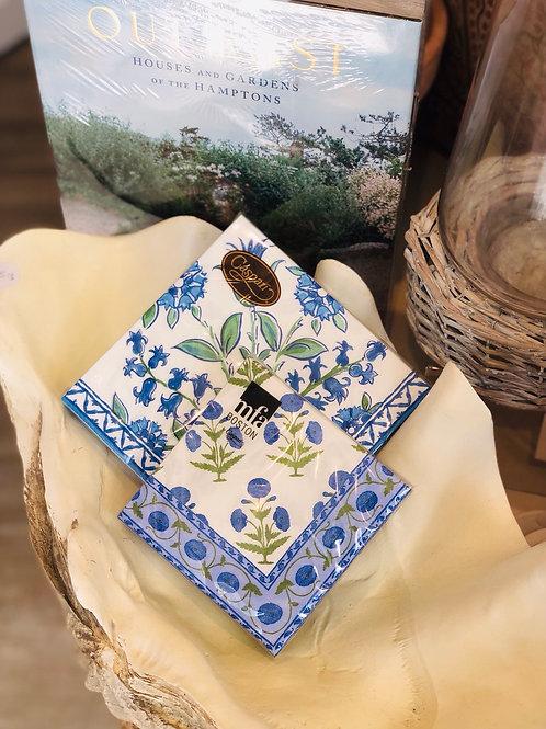 Blue Floral Napkin Large