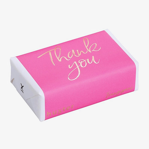 Wrapped soap - Thank You Pink