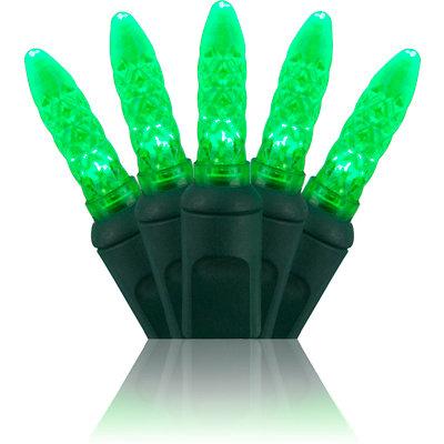 Green M5 LED Mini Lights 24'