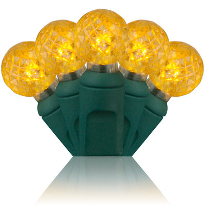 G12 Razzberry Gold LED Christmas Lights