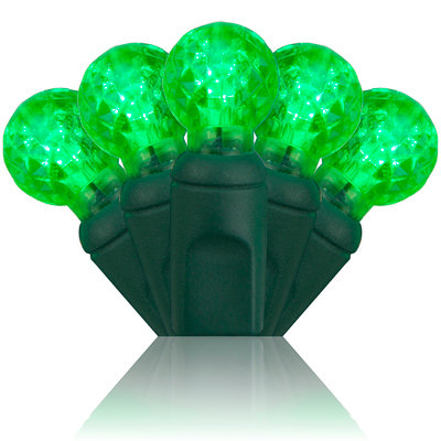 G12 Razzberry Green LED Christmas Lights