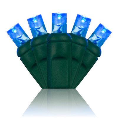 Blue 5mm Wide Angle Mini Lights 24'