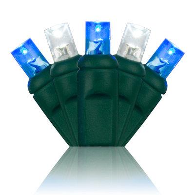 Blue/Cool White 5mm Wide Angle Mini Lights 24'