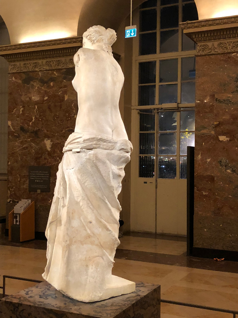 Venus of Milo and statues are...