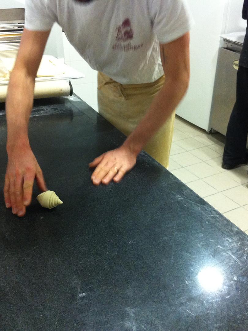 rolling croissants