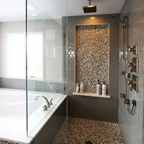 Finished Basement | Huge bath | bathroom | Tile | Shower