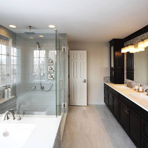 Finished Basement | Bathroom remodel | shower