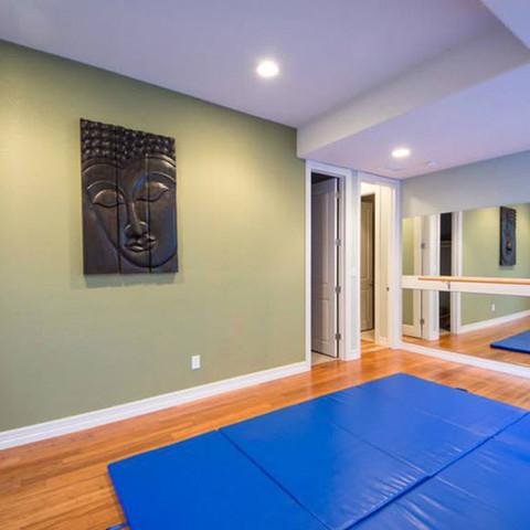 Finished Basement | Yoga room | workout
