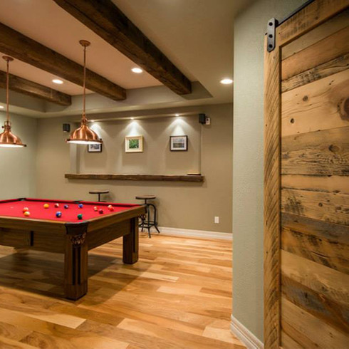 Finished Basement | Wet Bar | Theater | Barn door | Pool table