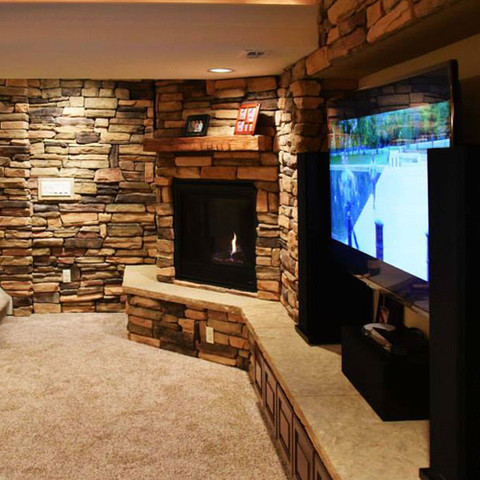 Finished Basement | Wet Bar | Theater | Fire place | Stone walls