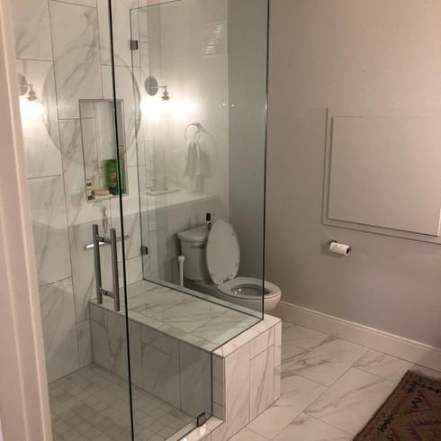 Finished Basement | Bathroom | Marble shower |