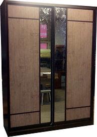Двухдверный шкаф купе с зеркалами