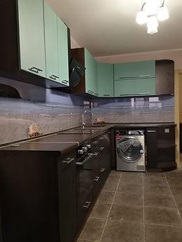 Кухонный гарнитур зеленый венге