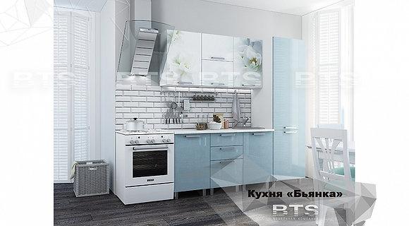 Кухонный гарнитур Бьянка с фотопечатью