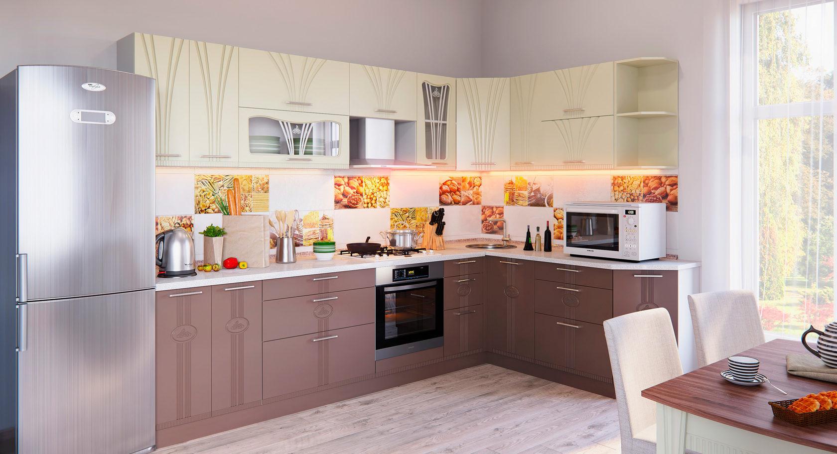 Кухонный гарнитур Лира угловая комплектация