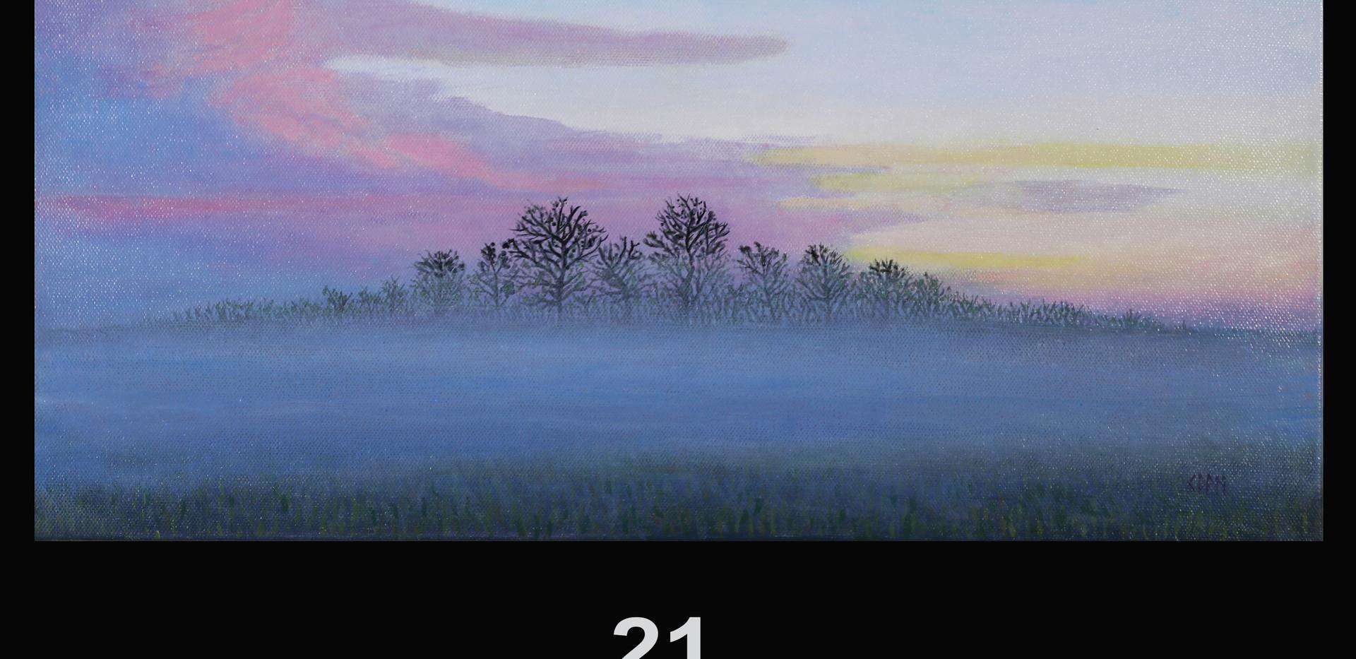 21. Winter Sunrise Off Mockingbird Lane