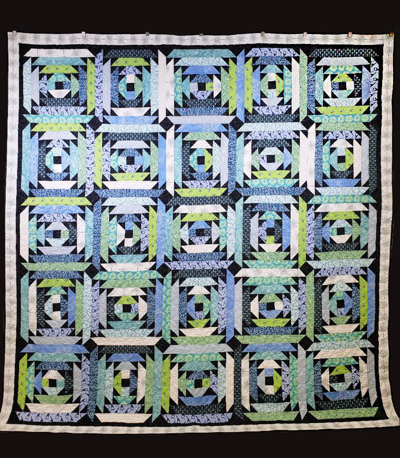 Dayflower Quilt by Susan Brannon Auvil
