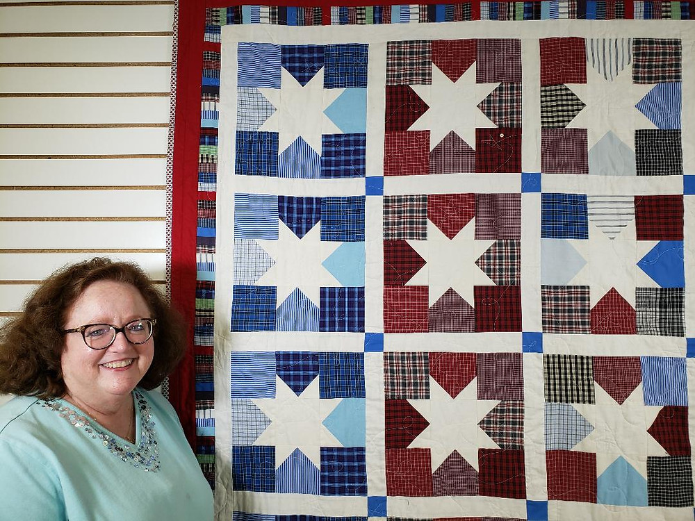Susan Brannon Auvil with Quilt