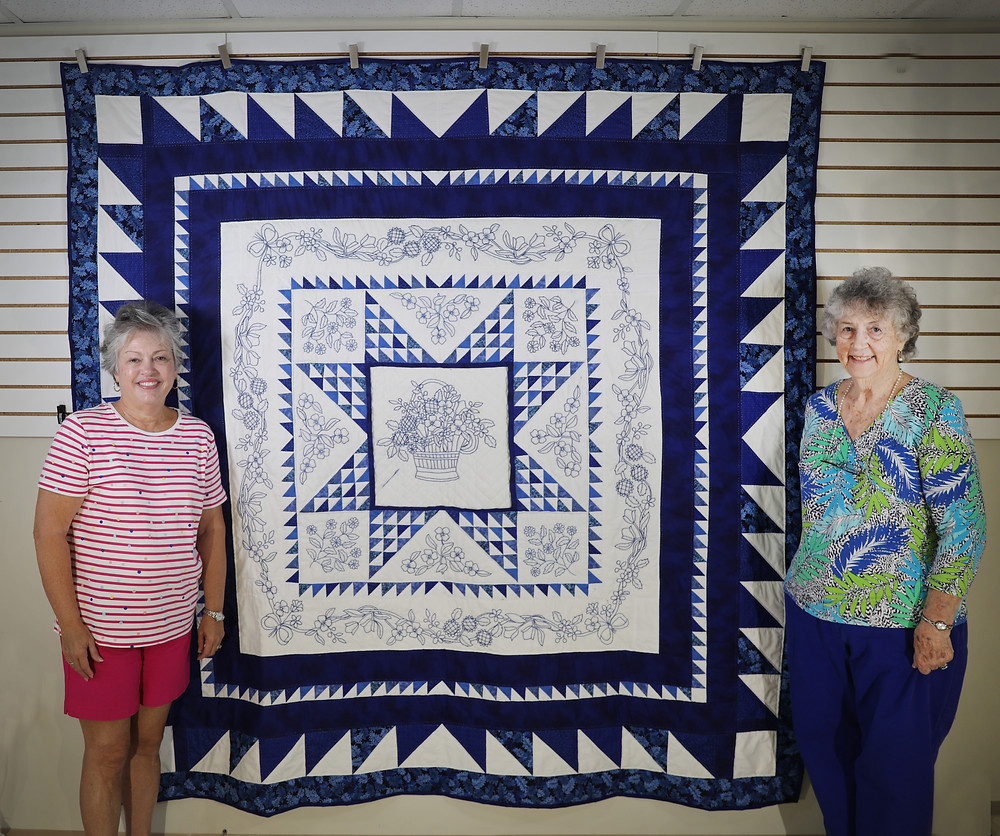 Shades of Blue Quilt by Charlene Howell Rabren and Evielean Howell