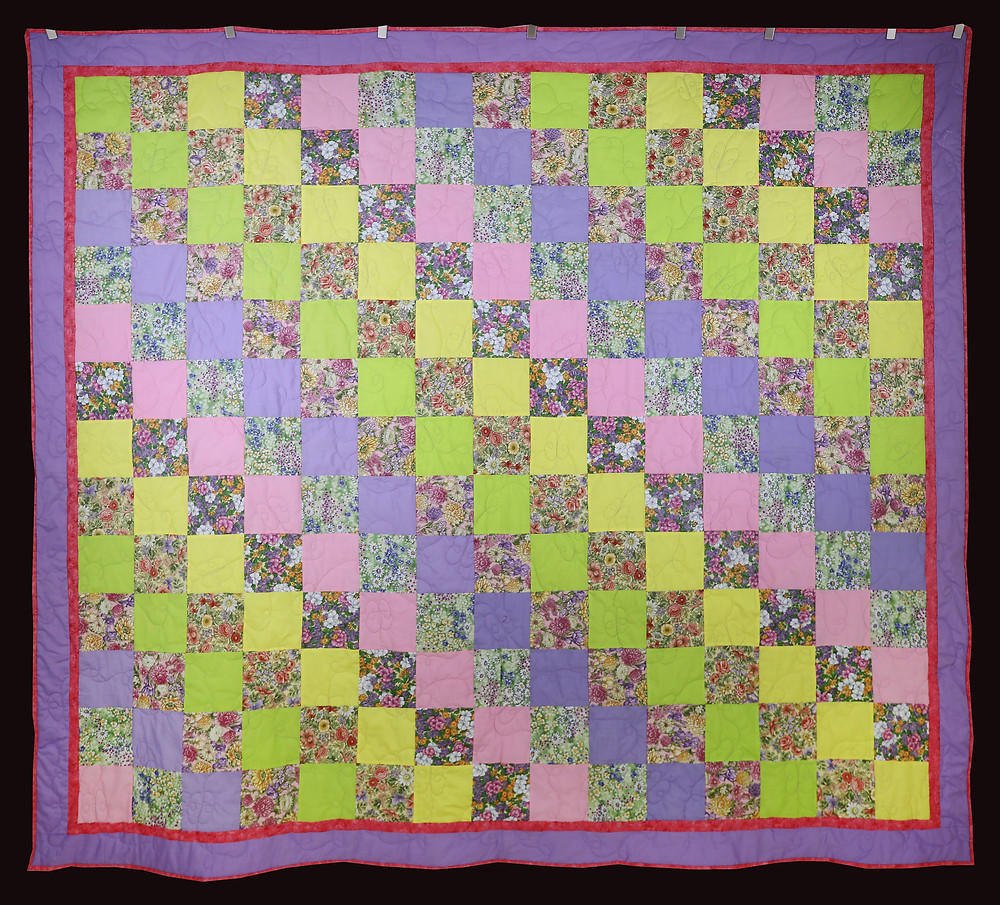 Flower Garden - First Quilt - by Elizabeth Forks